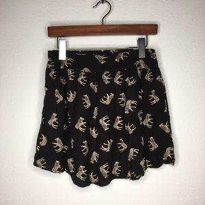 UO Kimchi Blue Black Zebra Skirt w/Pockets Size M